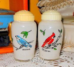 Bartlett-Collins salt and pepper shaker Feathered Friends Birds RARE HTF