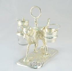 Beautiful Silver Plated Labrador Salt & Pepper Set