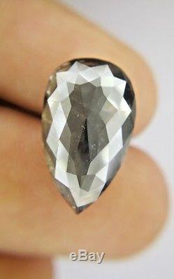 Big Salt and Pepper Pear Full cut Natural Diamond 10.11 TCW 18.1 x 11.0 x 6.0 MM
