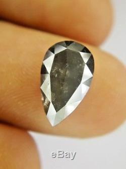 Big Salt and Pepper Pear Full cut Natural Diamond 3.18 TCW 12.7 x 7.8 x 3.8 MM