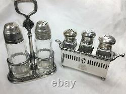 Biltmore Hotel Antique Silver Salt & Pepper Caddy Tray