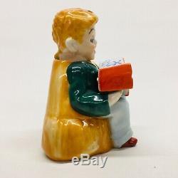 Boy Reading Book Nodder Salt Pepper Bird Windmill Vintage PAT TT T T