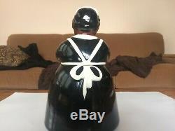 Brayton Laguna Black Maid Cookie Jar With Matching Salt & Pepper Shakers. Rare