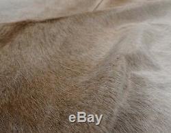 Brazilian Cowhide Real Fur Rug Salt Pepper Brown & Gray XL 7'+ NEW