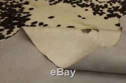 Brazilian Cowhide Rug Brown White Salt and Pepper Large 30 sq. Ft Natural Leather