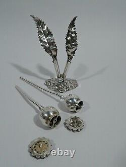 Buccellati Salt & Pepper Shakers Figural Flowers Italian Sterling Silver