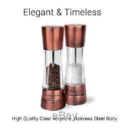 COLE & MASON Derwent Salt and Pepper Grinder Set Copper Mills Include Gift and