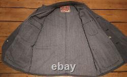CUSHMAN Japan Salt & Pepper Chore Jacket Duster Overall Workwear Post M/L 42