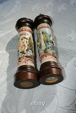 Capodimonte Functional Never USED Salt and Pepper Shaker Set