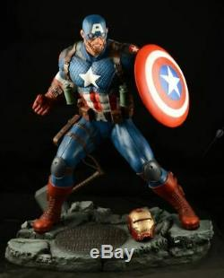Captain America Statue Sculpture Art Salt Pepper Nt XM Sideshow Prime 1 Marvel