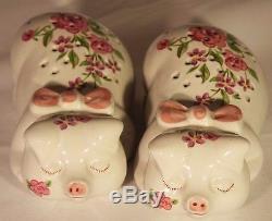 Ceramarte Pink Pig Avon 1978 Salt Pepper Shakers or Holds Potpourri
