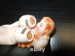 Ceramic Naked Lady Boob Salt and Pepper S&P Shaker Vintage Japan
