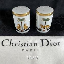 Christian Dior Casablanca 24k Gold Salt And Pepper Shakers