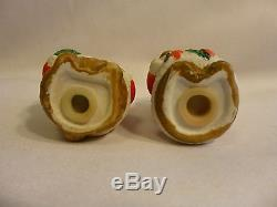 Christmas Bears Salt & Pepper Shakers vintage Ceramic Holiday