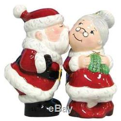 Christmas Holiday Magnetic Santa and Mrs. Clause Salt and Pepper Shaker Set Decor