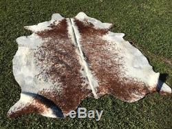 Clearance A Grade Cow Hide Reddish Brown Black Salt Pepper Floor Rug Mat