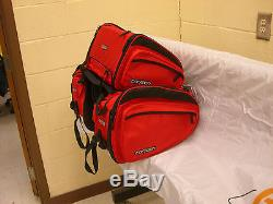 Cortech Motorcycle Sport Bag Set Red With Saddle Bags & Tail Bag