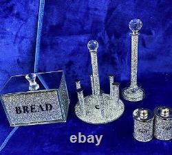 Crushed Diamond, Bread Bin, Cup Holder, Towel Holder, Salt & Pepper, 3 Canisters
