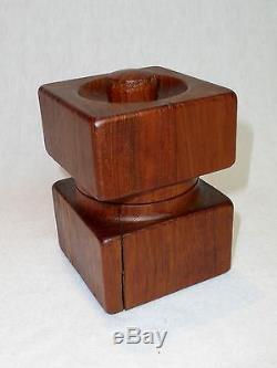 DANSK Jens Quistgaard Vintage Teak Salt and Pepper Mill Square Ultra Rare 1960's