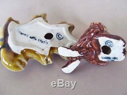 DOKIE ON AUTUMN OAK LEAF SALT and PEPPER SHAKERS CERAMIC ARTS STUDIO