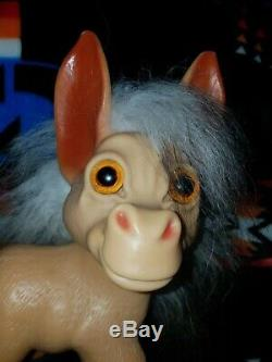 Dam Things 1964 Troll Donkey, 9, Vintage, salt and pepper hair, nice condition