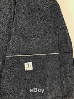 Dawson Denim Engineer Sack Jacket Chore Coat Salt Pepper Selvedge Medium