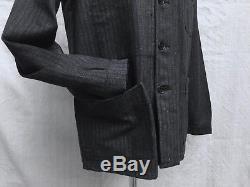 Deadstock VTG French Chore Jacket 1940's Work Jacket Vtg Salt Pepper Jacket SzM