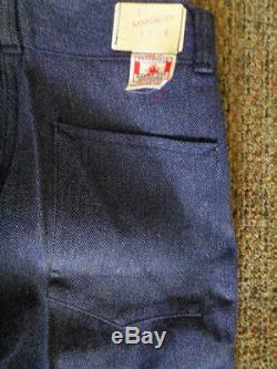 Deadstock Vtg 30's/40's Whipcord Denim Salt/Pepper Work Chore Pants NWT