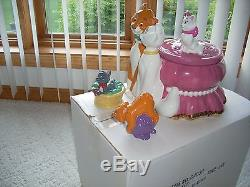 Disney Aristocats Cookie Jar With Salt & Pepper Set Limited Edition of 150 NIB