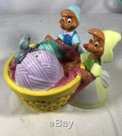 Disney Cinderella Cookie Jar and Salt Pepper Shakers Limited Edition MIB
