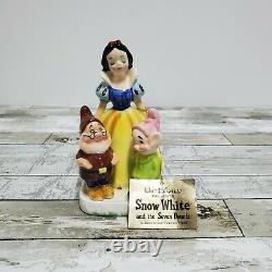 Disney Enesco Snow White Seven Dwarfs Napkin Holder Salt Pepper Shaker 1960