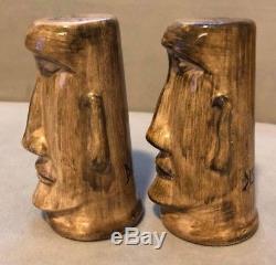 Disneyland Vintage Tiki Salt Pepper Shakers Great Cond NOT Trader Sams Tiki Mug