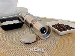 Dual sided Refillable Salt and Pepper Grinder Set Multi-Function Pepper Mil
