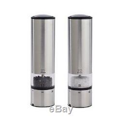 Duo Electric Pepper & Salt Mill with Alpha Tray One-hand Grinder Tactile Switch