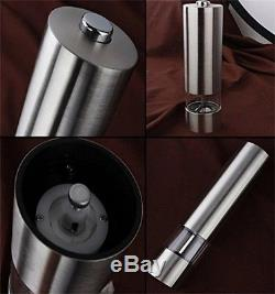 Electric Salt and Pepper Grinder Set Automatic Stainless Steel Ceramic Set of 2