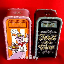 Epcot Food and Wine Festival 2017 MAP & Rare 2016 Figment Salt Pepper Shaker