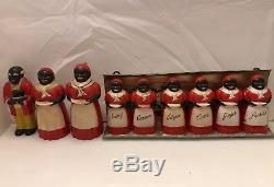 F&F Aunt Jemima Spice Set With Rare Mississippi Rack + Salt, Pepper, & Syrup