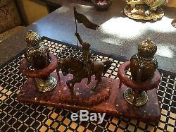 Fantastic set of Medieval style salt & Pepper shackers Joan of Arc Knight
