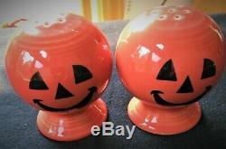 Fiesta Fiestaware Happy Pumpkin Halloween Salt and Pepper Shakers