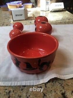 Fiesta Halloween Pumpkin Salt & Pepper Shaker Set, Candle Set and Bowl