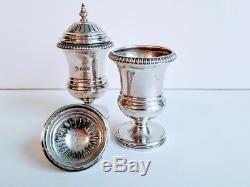 Fine English Sterling Salt & Pepper Shakers Maker William Hutton & Sons Ltd 1909