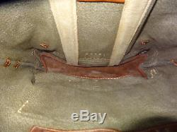 Fine Vintage Swiss Army Military Backpack Rucksack 1958 Canvas Salt & Pepper