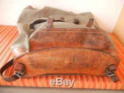 Fine Vintage Swiss Army Military Backpack Rucksack 1965 Canvas Salt & Pepper