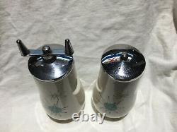 Franciscan Starburst Salt shaker and Pepper grinder
