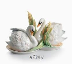 Franz Porcelain Salt & Pepper Shakers Southern Splendor Swan