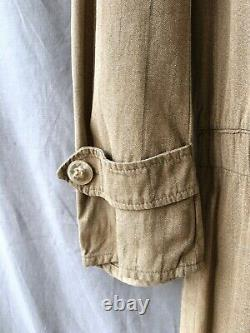 French Antique Clothing 1910s Coveralls 1920s Vtg Salt Pepper Striped Coveralls