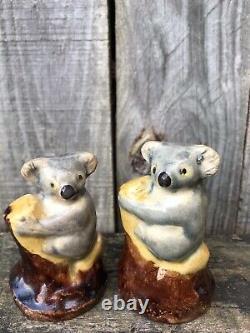 GRACE SECCOMBE Australian Pottery Koala Salt & Pepper Shakers Bargain Price