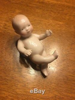Glazed China Bye-lo Baby Babies Salt And Pepper Shaker Shakers Vintage Old 1920s