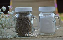 Golden Harvest Ball Mason Jar Glass Salt and Pepper Shakers (Clear Set of 2)