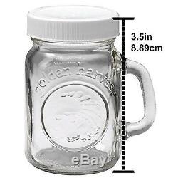 Golden Harvest by Ball Mini Mason Jar Salt & Pepper Shaker 4 oz 6 Pack